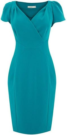 Karen Millen England Elegant Tailored Crepe Dress dressmesweetiedarling