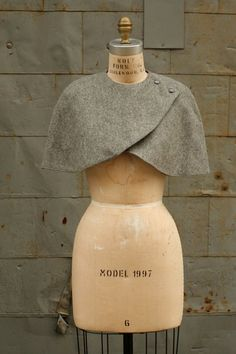 Holiday Sale-  Wool Caplet  No. 2 Gray Made to Order Last One