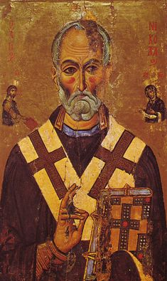 A 13th-century Egyptian depiction of St. Nicholas from Saint Catherine's Monastery, Sinai