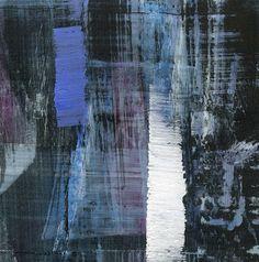 GRISAZUR: Acrílico sobre papel, 13x13 cm.Sep. 12, 2016