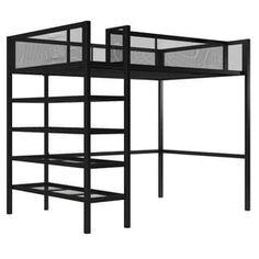 Shop for Avenue Greene Tammy Metal Storage Loft with Bookcase. Get free delivery On EVERYTHING* Overstock - Your Online Furniture Outlet Store! Safe Bunk Beds, Kid Beds, Loft Bed Frame, Loft Beds, Trundle Bed With Storage, Bed Storage, Smart Storage, Kids Toddler Bed, Black Rooms