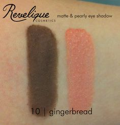 Revelique matte & pearly eyeshadow 10 gingerbread #eyeshadow #matte #pearly #gingerbread