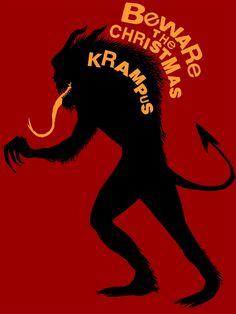The Christmas Krampus by Fishmas on DeviantArt Pagan Christmas, Dark Christmas, Little Christmas, Krampus Movie, Pagan Festivals, Dantes Inferno, Bad Santa, Bad Kids, Evil Twin