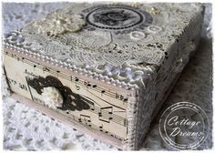 Lovely altered cigar box... I must get my craft room in order!