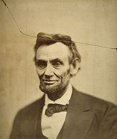 """Cracked Plate"" Photograph of Lincoln 