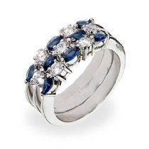 Sterling Silver Sapphire Stackable Ring