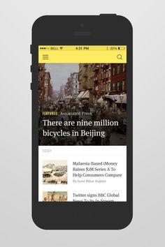 Realpixels News Reader App | Flat UI in iOS App Design