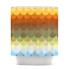 "Danny Ivan ""Half Circle Waves Color"" Shower Curtain 