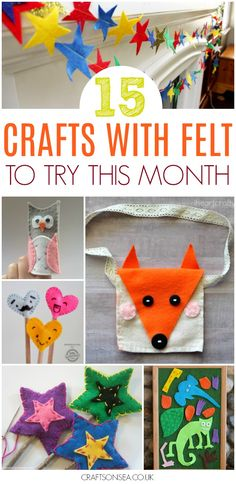 Get inspired by these gorgeous crafts with felt and then get ready to get creative! Fifteen fantastic and easy crafts you'll want to make today. #diy #felt #feltcraft #crafting