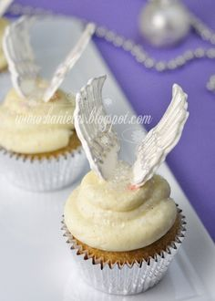 Pi Phi angel cupcakes #piphi #pibetaphi