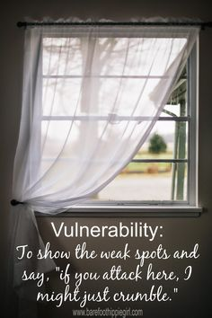 Barefoot Hippie Girl: Thoughts on Vulnerability
