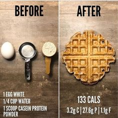 These waffles have become part of my nightl… 3 Ingredient Casein Protein Waffles. These waffles have become part of my nightly routine. They are so easy to make and taste amazing. Good Protein Foods, Casein Protein, Healthy Protein Snacks, High Protein, Healthy Waffles, Protein Ice Cream, Protein Water, Keto Snacks, Waffle Recipes