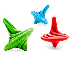 Spinning Tops: The classic tops feature a modern cyclone design that will quickly twist and spin around to entertain children of all ages. Add to any party bag for immediate play-time fun. Available in an assortment of red, blue and green. Office Desk Toys, Cool Office Desk, Party Prizes, Party Favors, Party Bags, Favours, Woodworking For Kids, Spinning Top, Top Toys