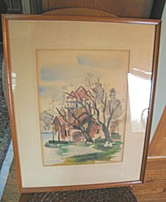 Vintage Bob Davidson framed watercolor for sale at More Than McCoy on TIAS!