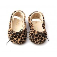 """Animal print is so """"in"""" right now-  these baby shoes are way too cute!"""