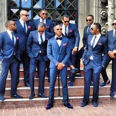 Royal Bule Men Suits Formal Wedding Party Prom Blazer Custome Homme Terno Slim F. Terno Slim Fit, Wedding Tux, Wedding Dress, Formal Wedding, Wedding Attire For Men, Trendy Wedding, Wedding Parties, Wedding 2017, Wedding Updo