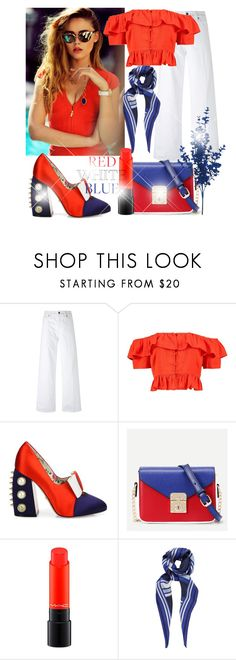 """""""red white blue"""" by bosnjakovic001 ❤ liked on Polyvore featuring Piaget, Vince, Boohoo, Gucci, MAC Cosmetics, John Lewis and fourthofjuly"""