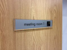 Meeting room door signs //.de-signage.com/ & Pin by Lana on name plates | Pinterest