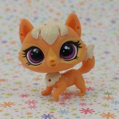 Littlest Pet Shop~#NO~Monopoly Kitty Cat Pink~Mauve Striped~Mauve Cloud Eyes