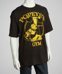 Take a look at this Black & Orange 'Popeye's Gym' Tee - Men by The Small Screen: Men's Apparel on @zulily today!