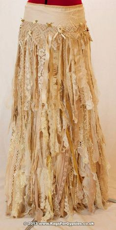 tattered lace skirt :)