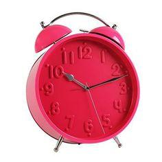 Relógio Despertador de Mesa Clássico Clean Pink GIGANTE - Maria Presenteira