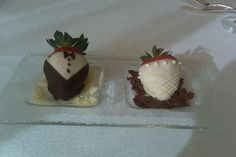 Our chocolate dipped strawberry amenity is a sweet send-off for the bride and groom! #WW #WeddingWednesday