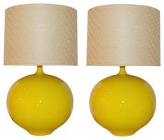 Add a pop of color to your room with these Vintage Modern Lamps on First Dibs.
