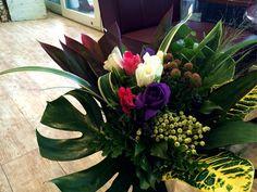 大好きなアネモネと葉モノのみの花束☆ JA信州諏訪さんのアネモネをご指名。
