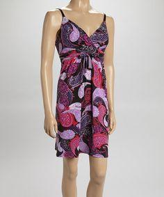 This Black & Pink Paisley Dress by Allison Brittney is perfect! #zulilyfinds