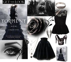 A fashion look from January 2013 featuring lacy top, cocktail skirt and heel pump. Browse and shop related looks. Lauren Kate, Fallen Series, Girl Names, Hush Hush, Handsome Boys, Becca, Get The Look, Savannah Chat, Novels