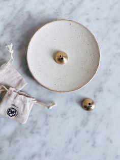 Ceramic Dish & Brass Incense Holder Set — shop coco kelley
