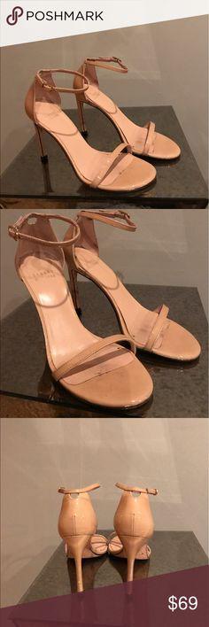 Stuart Weitzman Nudistsong Sandal Size 6. Good condition. Adobe patent leather. 3.75 heel height. Stuart Weitzman Shoes Sandals
