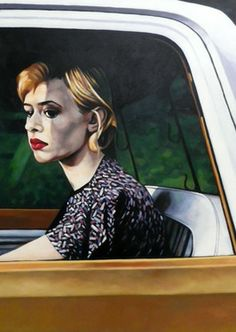 "Saatchi Online Artist thomas saliot; Painting, ""Car window or Lise Sarfati rocks"" #art"