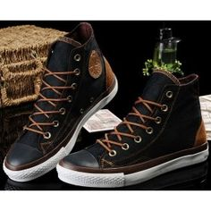 discount Converse schoenen zwart Chuck Taylor Vampire Mens/Dames Canvas & lederen Sneakers Hallo Tops