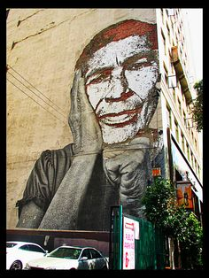 By JR and Vhils.    Spring Street    Downtown LA