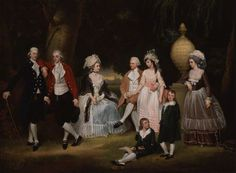 The Fourdrinier Family  attributed to John Downman, c.1786.