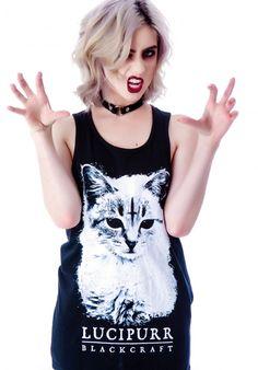blackcraft cult clothing cat tank top