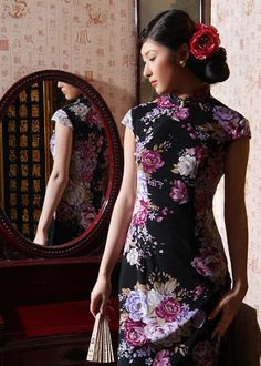 Cheongsam can show different styles with different materials to countries 4f81fe9e078c