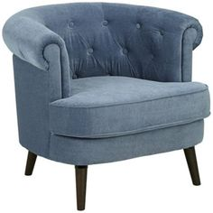 Elwood Tufted Blue Accent Chair
