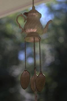 spoon wind chime....DIY?  saw something like this at the garden store