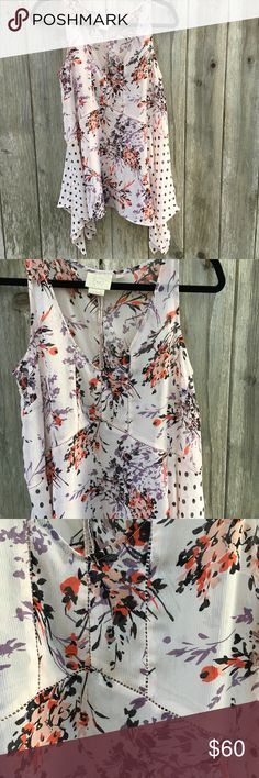 Anthro Vanessa Virginia Sheer Sleeveless Top Anthro Vanessa Virginia Sheer Sleeveless Top Size: Small  - flowy soft pink and purple Floral - polka dots   Thank you for looking and please check out the rest of my closet. ❤️ Anthropologie Tops Blouses