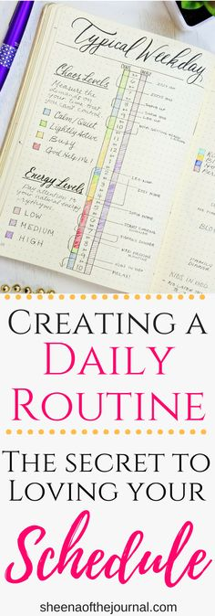 The secret to creating a schedule you don't hate! #bulletjournal #planner #lifehack