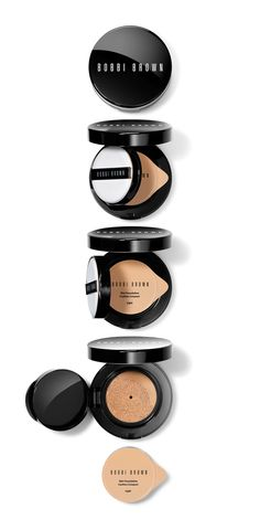 The weightless feel and coverage of a liquid foundation plus the convenience of a compact. Bobbi Brown's Skin Foundation Cushion Compact is perfect for anyone with normal to oily skin and comes in 9 different shades.  Love how it leaves skin looking even, naturally healthy and glowing.