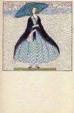 821. Fritzi Löw - Wiener Werkstatte postcard