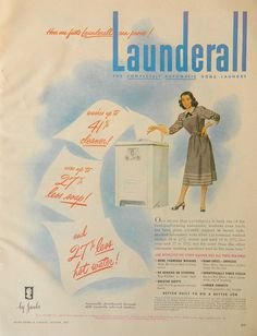 Vintage Washer Ad Launderall Washer OR by DustyDiggerLise