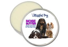 And the multi-variety Cavalier label - Cavalier King Charles Spaniel Nose Butter by TheBlissfulDog, $11.50