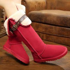 New Trendy Top Standard Winter Warm Flat Snow Boots