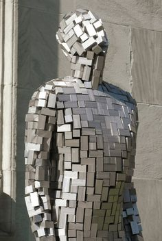 Antony Gormley always manages to capture the human form effortlessly in materials that should make this I possible!