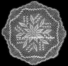 Lily of the Valley vintage doily pattern